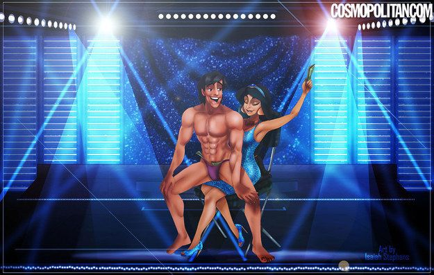 """Isaiah Stephens, the artist who drew Disney couples in 50 Shades scenarios, has teamed up with Cosmopolitan once again for another ~adult~ take on the characters.   This Is What Disney Princes Would Look Like As """"Magic Mike"""" Strippers"""