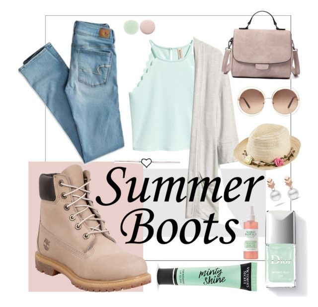 """""""Summer Ankle Boots"""" by kathrynesker ❤ liked on Polyvore featuring Gap, Timberland, American Eagle Outfitters, Chloé, Joe Browns, Victoria's Secret, Nails Inc. and Escalier"""