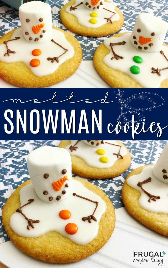 Elf On The Shelf Ideas Melted Snowman Cookies