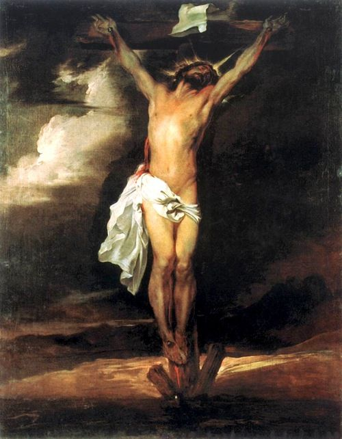5b) THE CRUCIFICTION by Sir Anthony van Dyck 1622