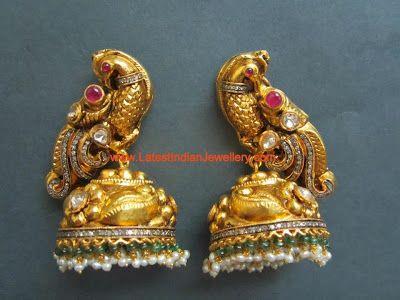 Nakshi Design Gold Jhumkas | Latest Indian Jewellery Designs