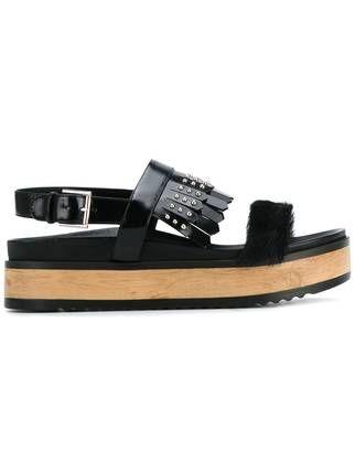 Alexander McQueen сандалии с бахромой