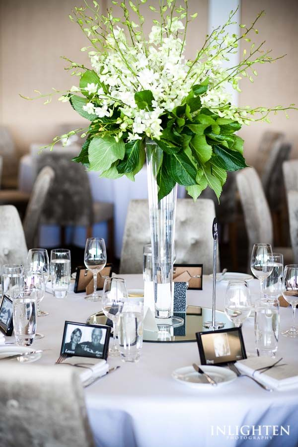 Sergeants Mess - Inlighten Photography-  Classic and elegant floral centre piece.