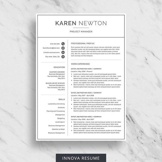 Modern Resume Template For Word Minimalist Resume Design 2 Page Resume Downloa Resume Template Word Resume Template Professional Minimalist Resume Template