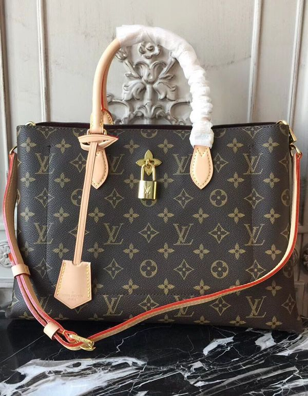 cec26121790f4 Louis Vuitton Monogram Canvas Flower Tote Beige M43551 it is practical and  it looks great.  MonogramCanvas  LouisVuittonMonogram  LVFlowerTote  m43551