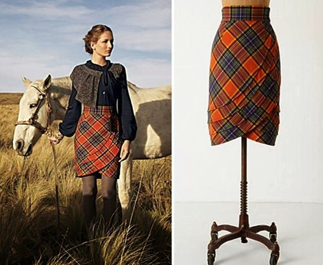 plaid skirt from anthro and tutorial on how to make your own