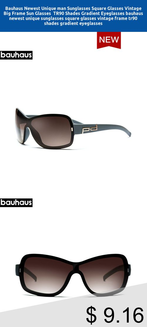 fe974f7cd8  Only  9.16  Bauhaus Newest Unique man Sunglasses Square Glasses Vintage  Big Frame Sun Glasses