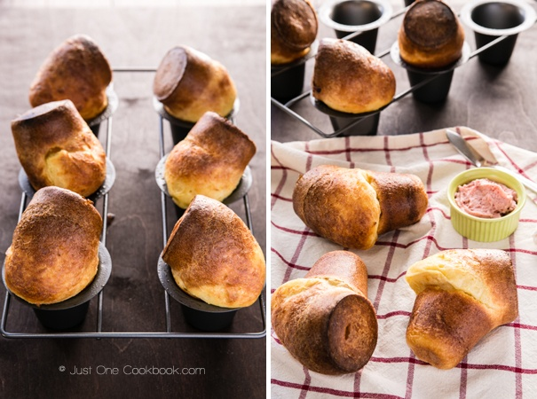 Popovers with Strawberry Butter | JustOneCookbook.com