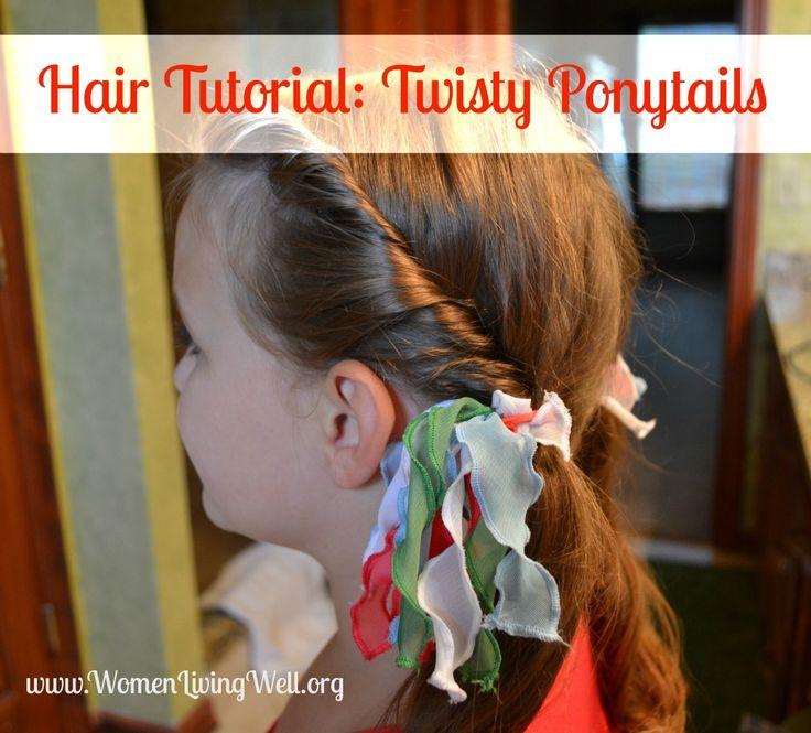Hair Tutorial: Twisty Ponytails