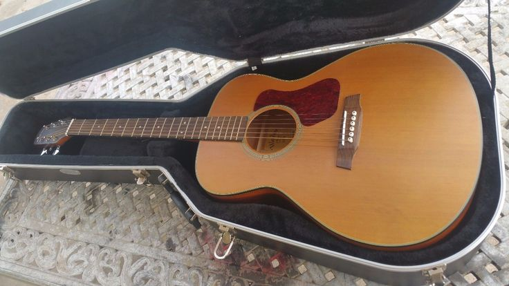 #guitar WALDEN G570 Brown 6 String Acoustic Guitar With Hard Shell Case please retweet