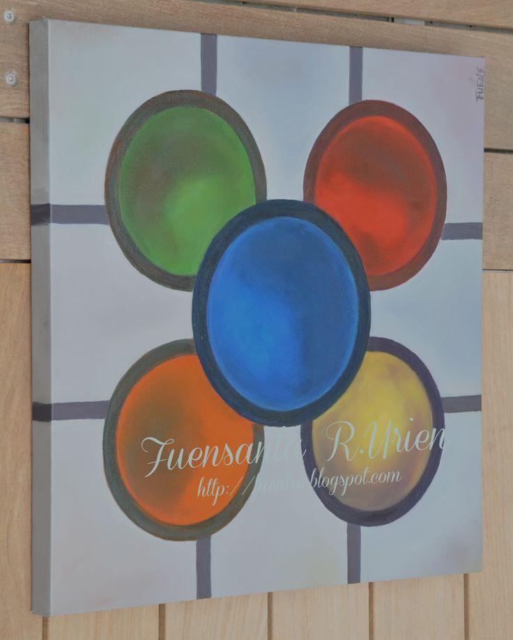 Baldosa de Bilbao, oleo sobre lienzo 60x60cm