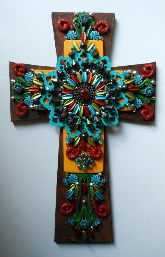 17 best images about my wall of crosses on pinterest for Cross wall decor ideas
