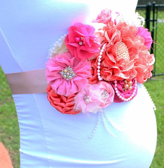 Faja maternidad Coral Rosa y durazno marfil melocotón rosa