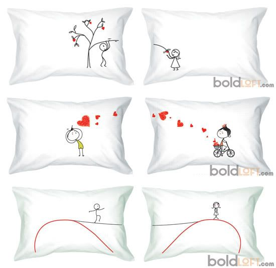 pillow case for his and hers | the cutest his and hers pillow cases great for honeymoon or every day ...