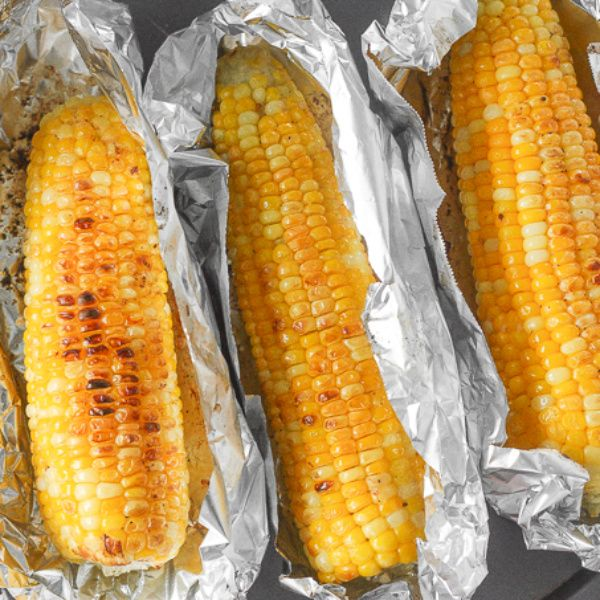 ... grill your corn on the cob, try buttery, oven-roasted corn on the cob