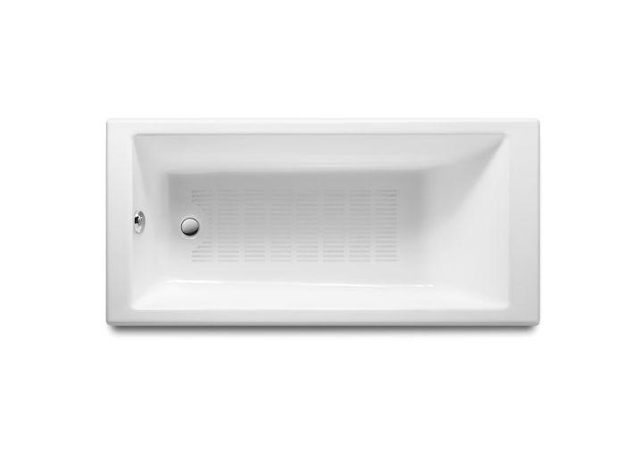 Bañera de fundición rectangular con fondo antideslizante | Bañeras de hierro fundido | Sin hidromasaje | Bañeras rectangulares | Bañeras | Productos | Roca