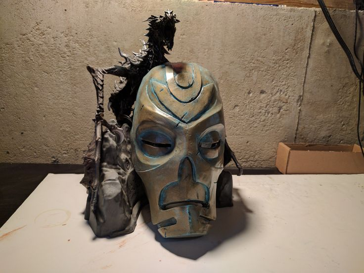 I made Krosis one of the Dragon Priest Masks from Skyrim