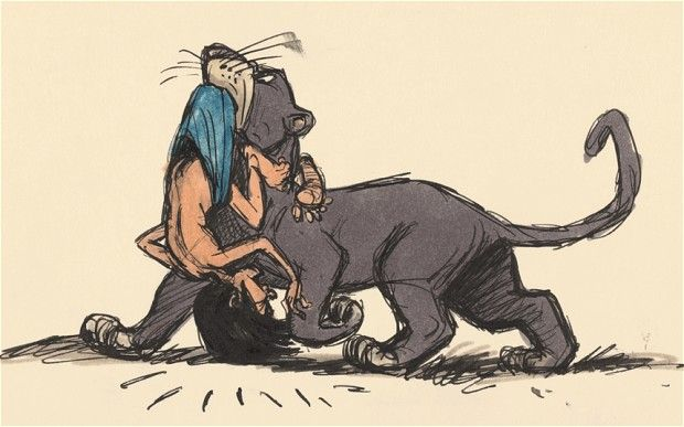 Initial sketches for Walk Disney's The Jungle Book