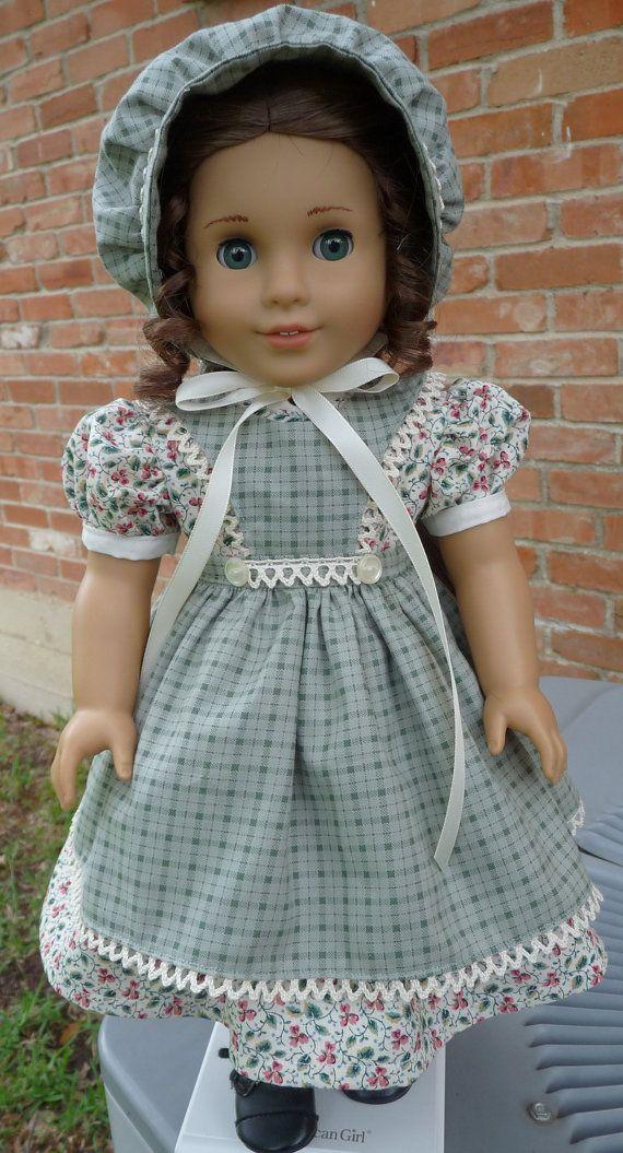 18 Doll Clothes Pretty Pioneer / Prairie Dress by Designed4Dolls, $39.95