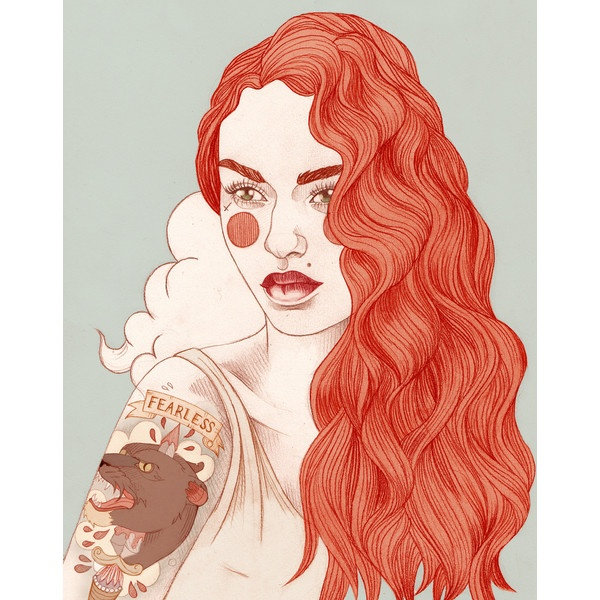 Liz Clements Illustration ❤ liked on Polyvore