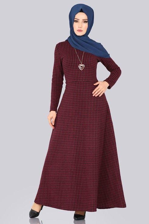 Elbise Kislik Tesettur Elbise 5060mp186 Desen2 Winter Dresses Dresses Hijab Dress