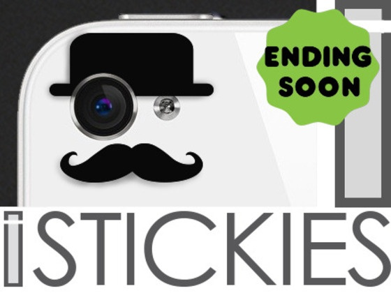 The vinyl decals that cleverly fit over your iphone 4 or 5 camera eye to give your phone character only 42 hours left to pledge for