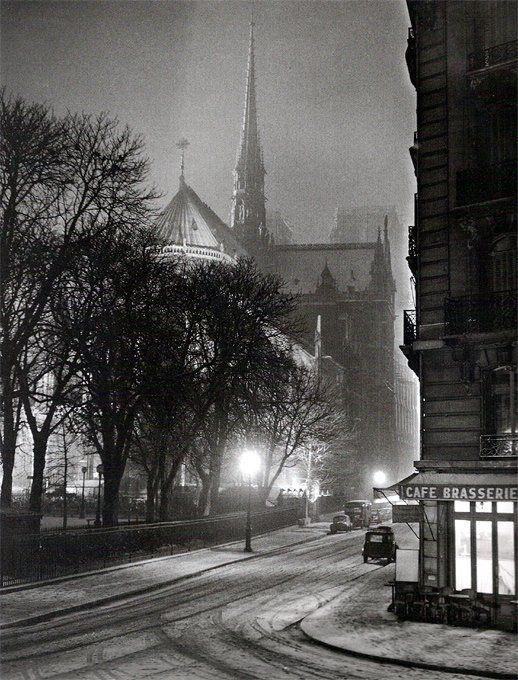 Albert Monier, rue du Cloitre-Notre-Dame, 1953