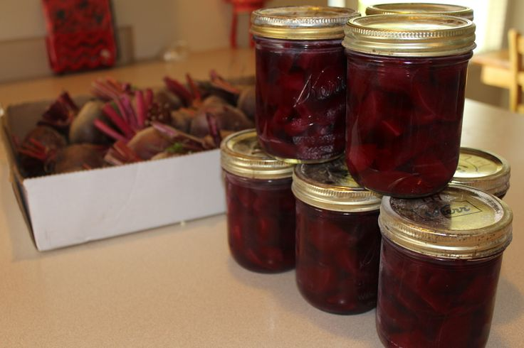 Canning Pickled Beets is easier than you might think. Just cook 'em, peel 'em and process them in a water bath canner! Quick, easy and delicious!