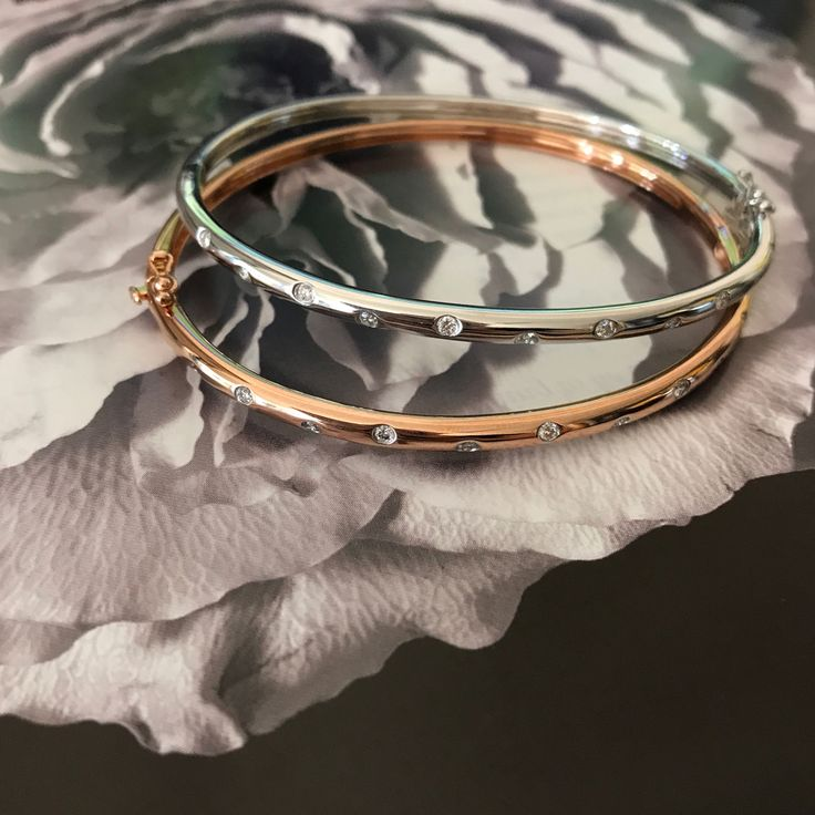 Bold bangles - yes please!  Great gifts for mum in-store now. #mazzucchellis #jeweller #jewellery #diamond #diamonds #diamondjewellery #diamondbangle #rosegold #rosegoldjewellery #mum #mother #mothersday #giftsformum #giftsforher #bangles #fashion #style #love