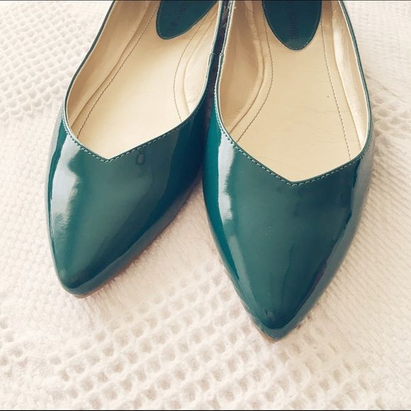 Shiny Teal Flats I love the teal color but unfortunately these are a tad to small for me. Audrey Brooke Shoes Flats & Loafers