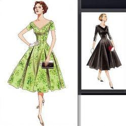 patron couture gratuit robe année 50 17
