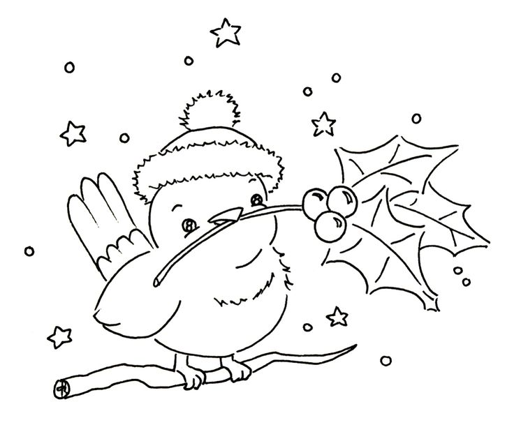 Sliekje digi Stamps: little winter bird