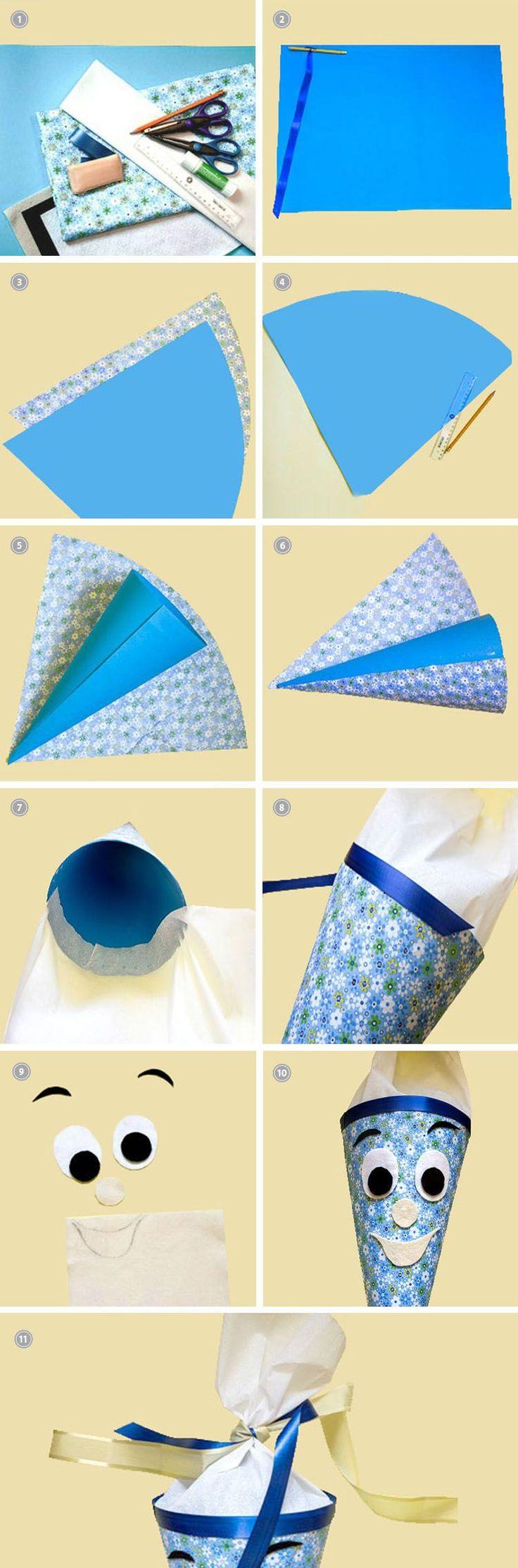 Bereite deinem Kind eine Freude zum ersten Schultag. Wir zeigen dir, wie du ihm eine Schultüte ganz einfach selber basteln kannst.