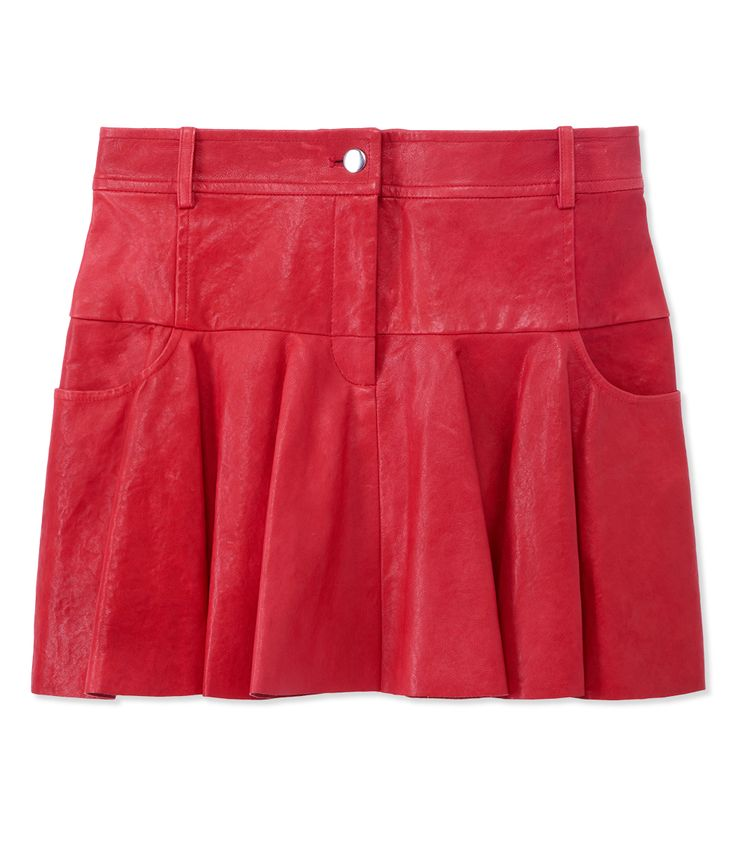 Code Red: Go Bold in Fiery Hues with Onyx Accents at #ShopBAZAAR - Thakoon Addition Tulip Skirt