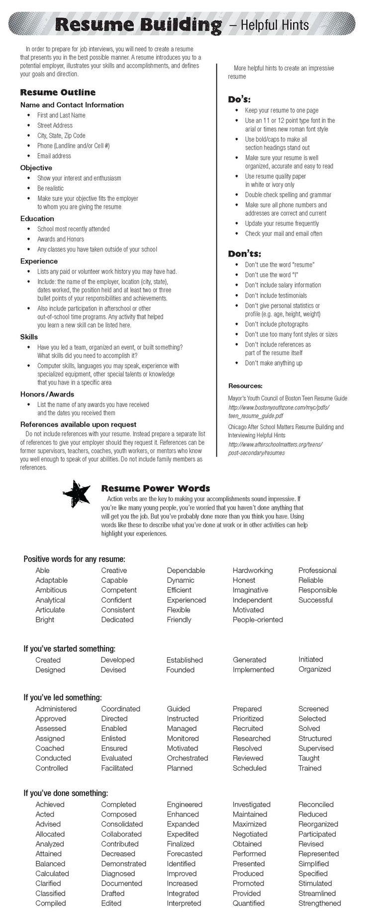 52 best Resume Ideas images on Pinterest | Resume ideas, Resume ...