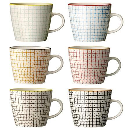 Bloomingville Carla Set of 6 Assorted Mugs
