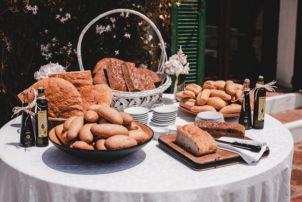 Buffet de panes y aceites · SI QUIERO WEDDING PLANNER