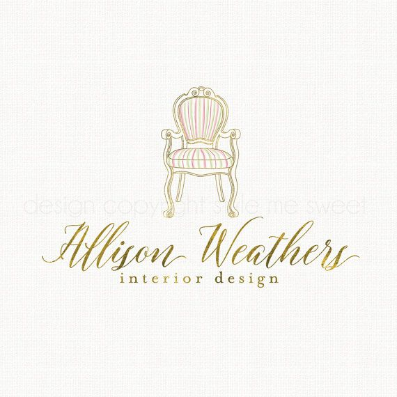 interior designer logo chair logo design by stylemesweetdesign - Interior Design Logo Ideas