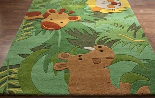 Jungle theme safari rugs kids bedroom decor ideas