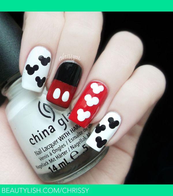 Mickey Mouse Nails | Christa S.'s (Chrissy) Photo | Beautylish