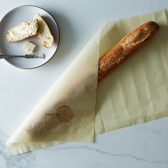 Bee's Baguette Wrap - beeswax-coated fabric wrap, helps keep bread fresh?