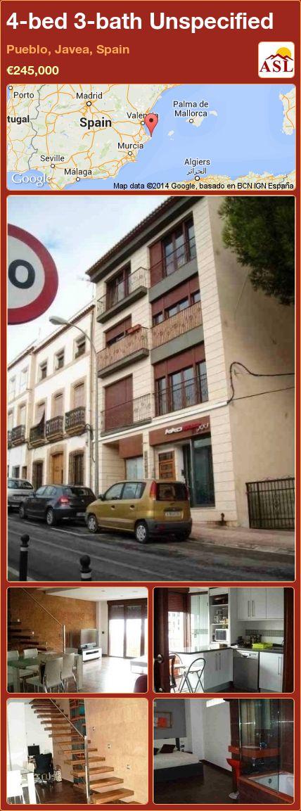 4-bed 3-bath Unspecified in Pueblo, Javea, Spain ►€245,000 #PropertyForSaleInSpain