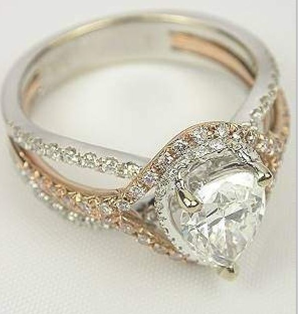 1000 images about wedding rings on pinterest pear for Mixture of gold and silver