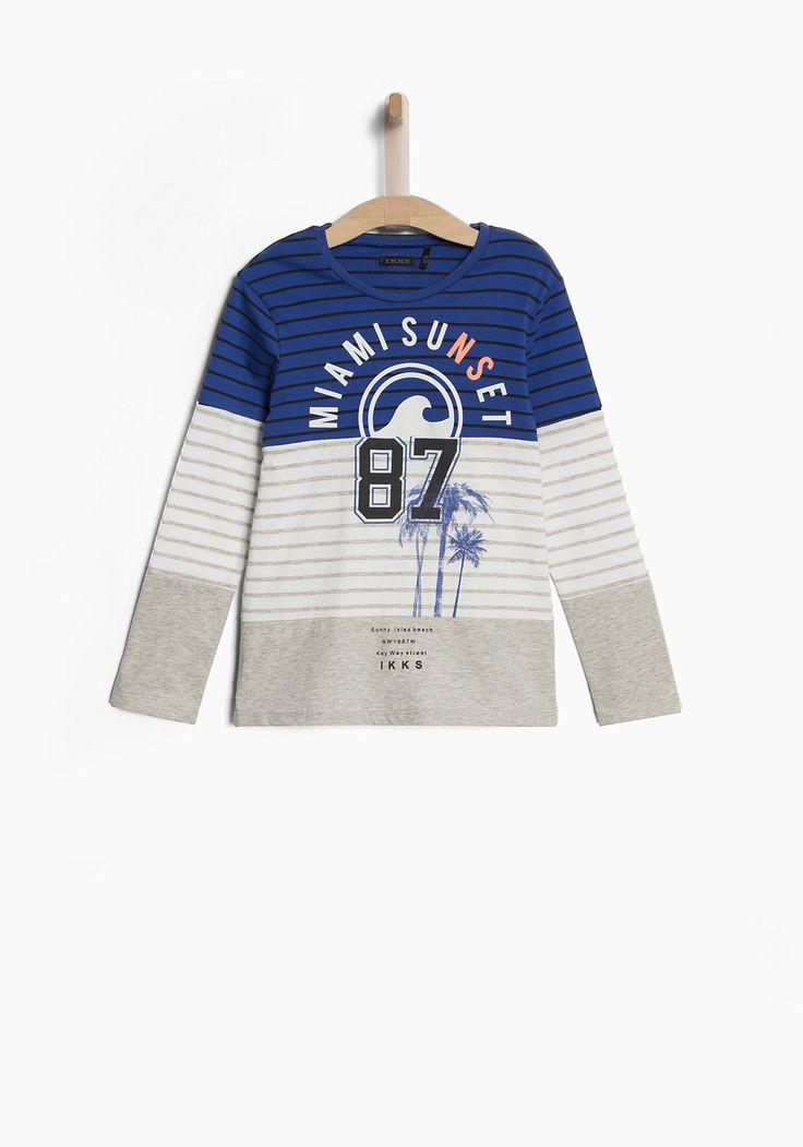 Soldes Tee-shirt gris garçon IKKS | Soldes Tee-shirt, polo Hiver
