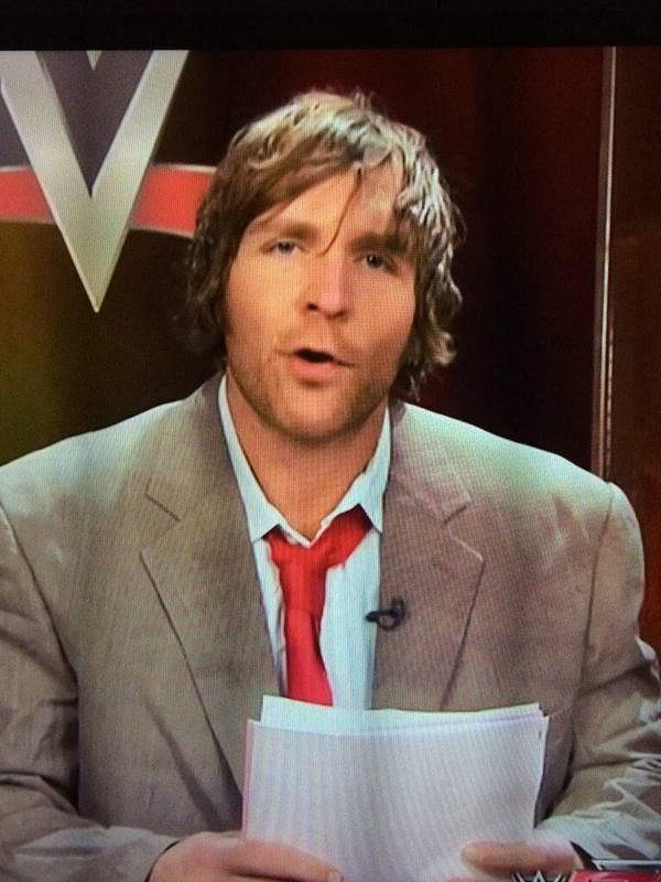 Host: Now Here's Dean Ambrose With WWE NEWS... Dean: Breaking News, Seth Rollins Is A BABY, Back To You