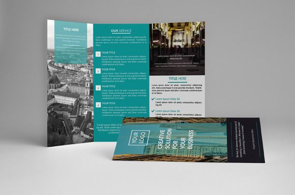 Bisnis Trifold Brochure by assaiv on Creative Market