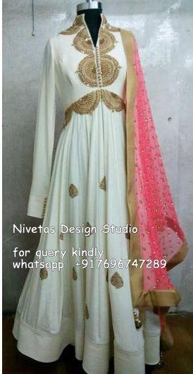 anarkali suit - for query whatsapp +917696747289 visit us at https://www.facebook.com/punjabisboutique #anarkali #suits #suit #Embroidered #boutique #design #wedding #suit #bridal #suits #lehenga #designer