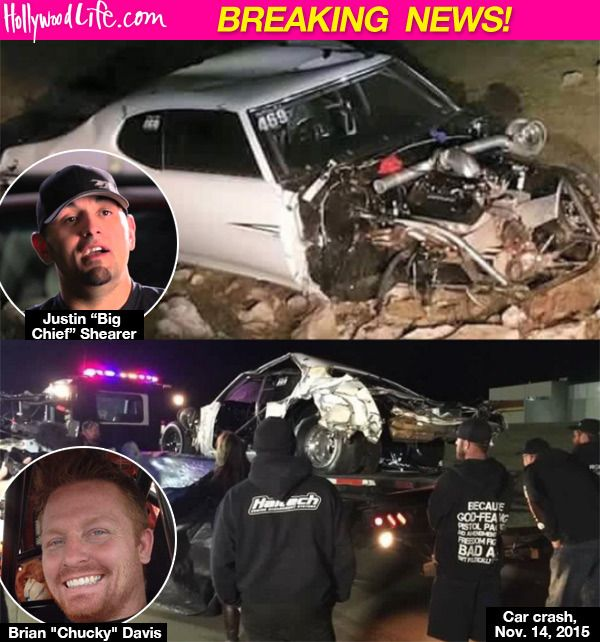 How scary! 'Street Outlaws' stars Big Chief and Chucky were in a crazy car crash on Nov. 14. Luckily everyone is alive and doing okay, but Big Chief suffered some pretty bad injuries. Read his statement below.