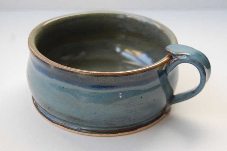 A personal favorite from my Etsy shop https://www.etsy.com/listing/260490836/pottery-soup-bowl-with-handle-ceramic