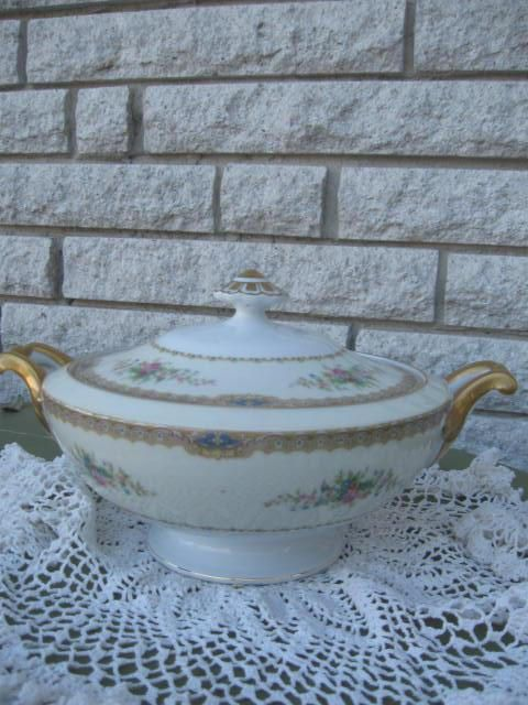 Vintage Serving Bowl with lid National China Serving Bowl